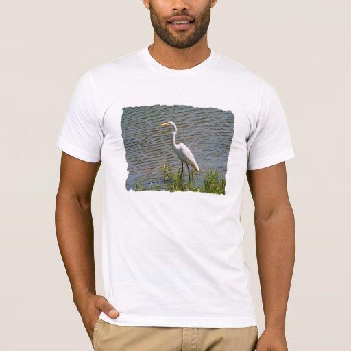 Foto tropical del pájaro del Egret blanco Playera