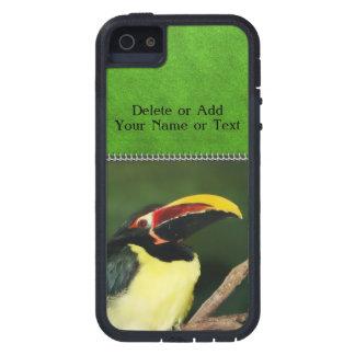 Foto tropical verde del animal del pájaro de iPhone 5 carcasas