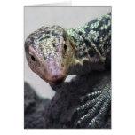 Foto única del lagarto toda la ocasión tarjeta de felicitación