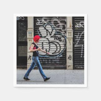 Foto urbana de la calle de New York City Servilleta De Papel