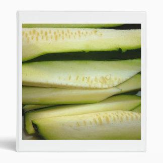 foto vegetal cortada de la comida del calabacín carpeta 2,5 cm