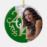 Foto verde 2014 de la graduación de la clase adorno de navidad