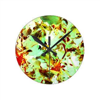 Foto verde Acryllic moderno del arte abstracto del Reloj De Pared