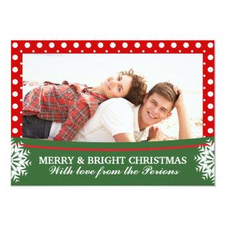Foto verde blanca roja de Groupon del navidad del Invitación 12,7 X 17,8 Cm