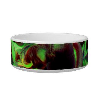 Foto verde roja del anenome del mar tazones para gatos