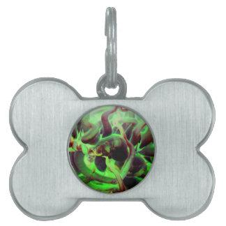 Foto verde roja del anenome del mar placa de mascota