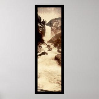 Foto vernal 1908 de Yosemite de las caídas Posters