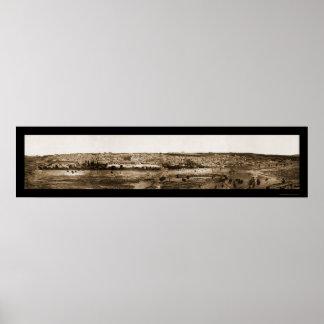 Foto vieja 1865 de Jerusalén Panview Póster