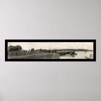 Foto vieja 1911 de la casa NY de la fragua Impresiones