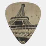 Foto vieja de la torre Eiffel Púa De Guitarra