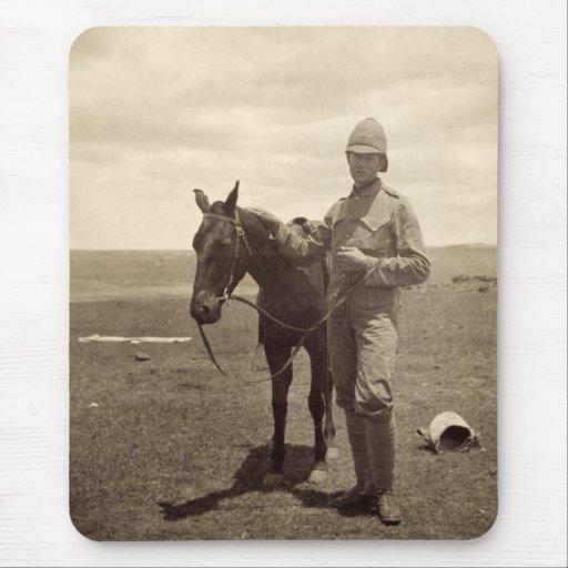 Foto vieja de un soldado británico - guerra Boer Alfombrilla De Ratón
