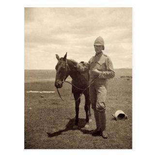 Foto vieja de un soldado británico - guerra Boer Tarjetas Postales