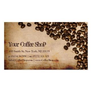 Foto vieja del grano de café de la arpillera - tar tarjeta de visita