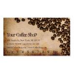 Foto vieja del grano de café de la arpillera - tarjetas de visita
