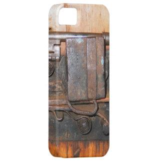 Foto vieja del vintage iPhone 5 carcasa