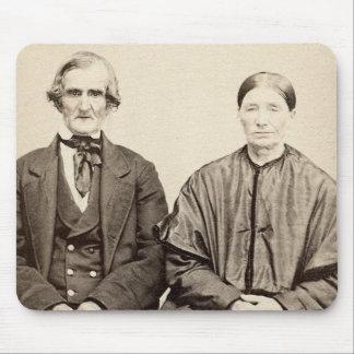 Foto vieja From 1860 del albumen CDV del vintage Tapetes De Ratón