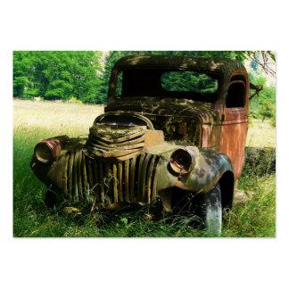 Foto vieja oxidada del camión de la granja de ACEO Tarjeta De Visita