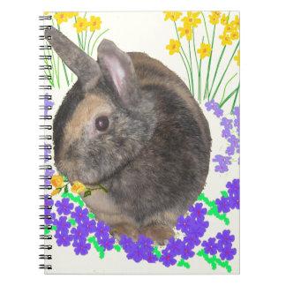 Foto y flores lindas del conejo notebook