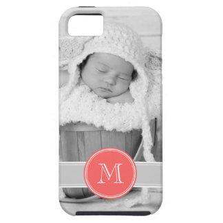 Foto y monograma de encargo personalizados iPhone 5 Case-Mate carcasa