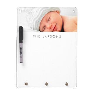 Foto y monograma personalizados personalizado pizarra blanca