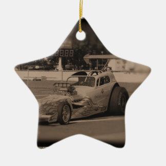 foto zazzle1.jpg de la fricción adorno navideño de cerámica en forma de estrella