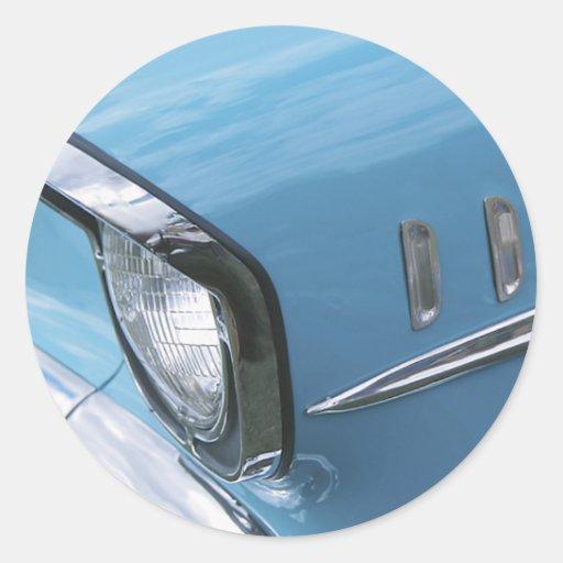 Fotografía 1957 de la parrilla del coche de Chevy Etiqueta Redonda