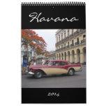 fotografía 2014 de La Habana Calendario De Pared