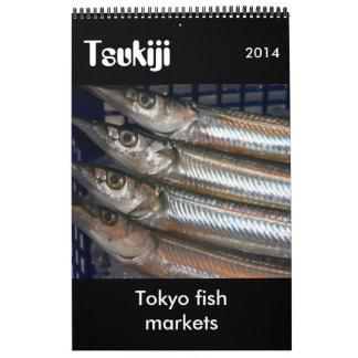 fotografía 2014 del tsukiji calendarios