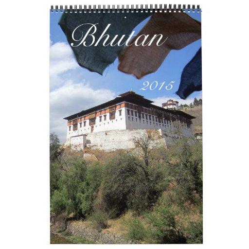 fotografía 2015 de Bhután Calendario