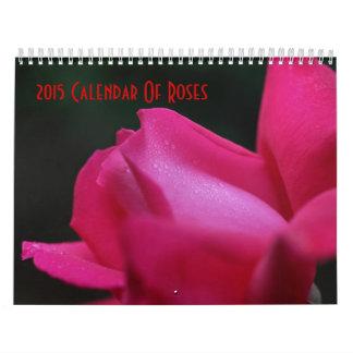Fotografía 2015 de la flor de los rosas calendarios de pared