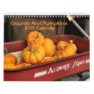 Fotografía 2015 de las calabazas y de las calendarios