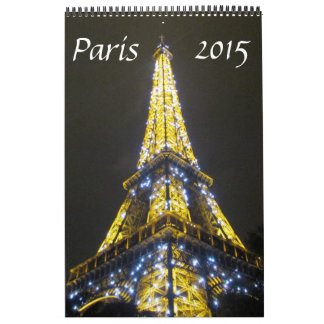 fotografía 2015 de París Calendarios De Pared