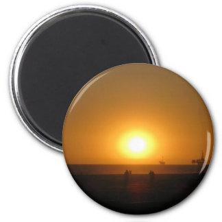 Fotografía 3 de la playa imán redondo 5 cm