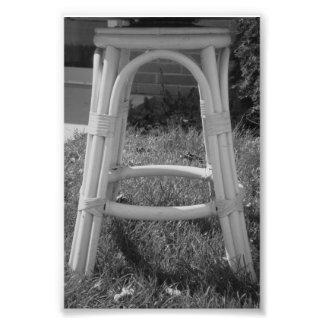 Fotografía A7 4x6 blanco y negro de la letra del Cojinete