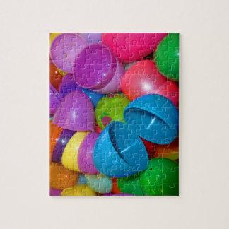 Fotografía abierta del azul el plástico de los hue puzzles