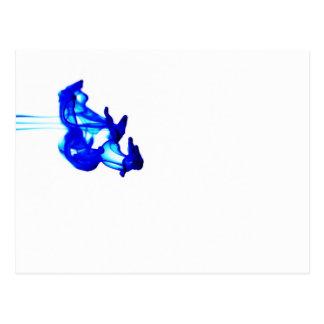 Fotografía abstracta azul de la macro del descenso tarjeta postal