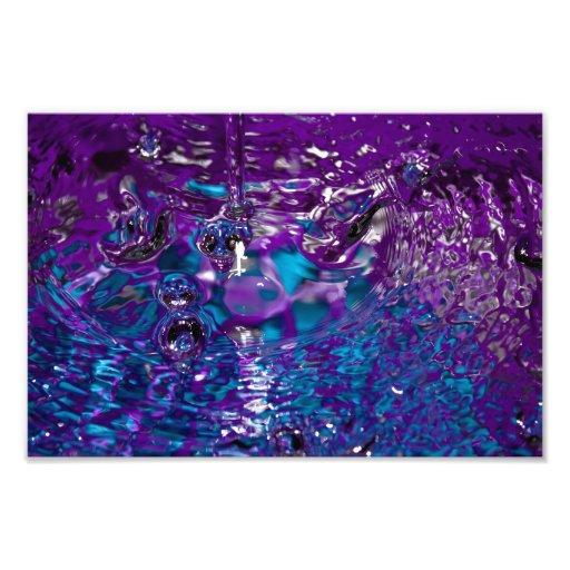 Fotografía abstracta azul y púrpura del agua fotografía