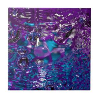 Fotografía abstracta azul y púrpura del agua azulejo cerámica