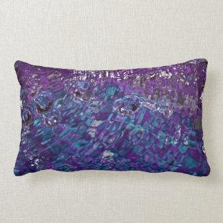 Fotografía abstracta azul y púrpura del agua cojin