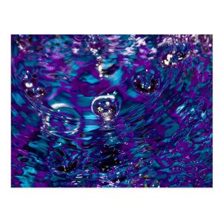 Fotografía abstracta azul y púrpura del agua postales