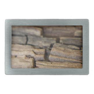Fotografía abstracta de la madera hebillas de cinturon rectangulares