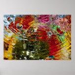 Fotografía abstracta de las aguas coloridas posters