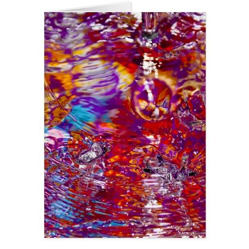 Fotografía abstracta de las aguas coloridas felicitación