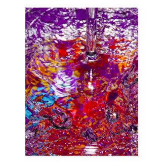 Fotografía abstracta de las aguas coloridas tarjetas postales