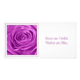 Fotografía abstracta de una orquídea coloreada tarjeta fotográfica personalizada