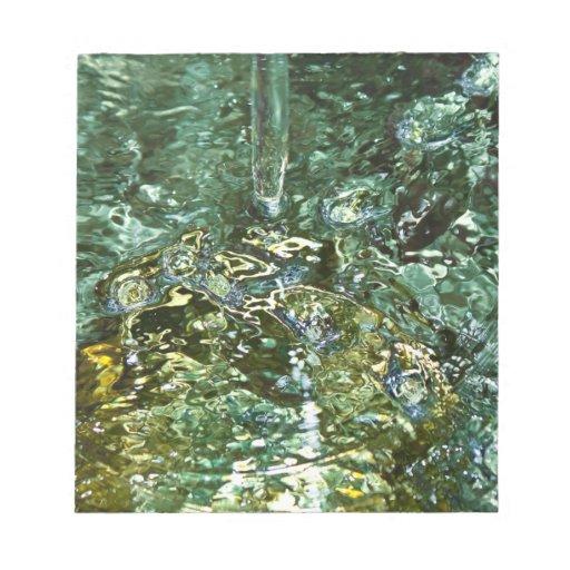 Fotografía abstracta del agua blocs de papel