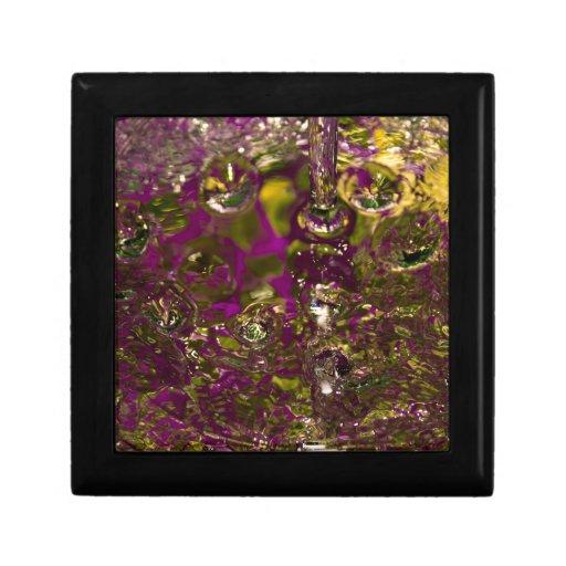 Fotografía abstracta del agua cajas de joyas