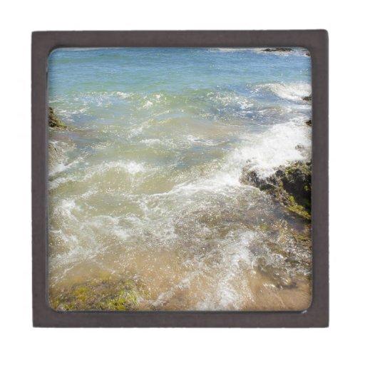 Fotografía abstracta del agua de las ondas pacífic caja de regalo de calidad