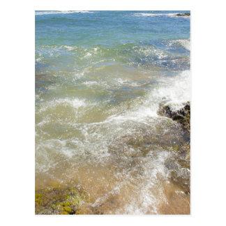 Fotografía abstracta del agua de las ondas postales