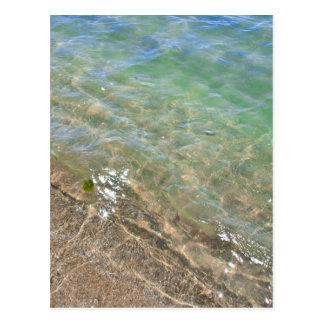 Fotografía abstracta del agua de las ondas tarjetas postales
